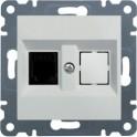 LUMINA 2 Gniazdo telefoniczne pojedyncze RJ11 białe