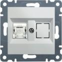 LUMINA 2 Gniazdo komputerowe pojedyncze RJ45 kat. 5e UTP białe