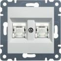 LUMINA 2 Gniazdo komputerowe podwójne RJ45 kat. 5e UTP białe